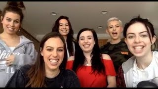 Cimorelli Singing Cover Requests On A Facebook Livestream With Radio One Lebanon (1/18/18)