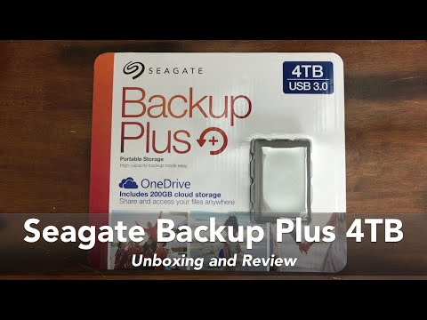 Seagate Backup Plus 4TB USB 3.0 Portable Storage