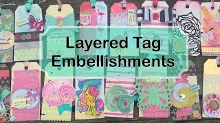 Layered Tag Embellishments Using DIY Word Stickers | Im A Cool Mom