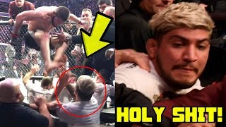 Khabib Nurmagomedov attacks Dillon Danis after Conor McGregor fight at UFC 229, Brawl breaks out