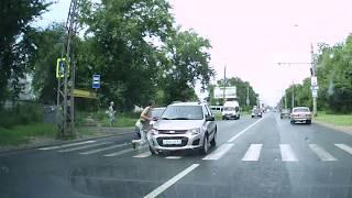 ДТП на нерегулируемом пешеходном переходе