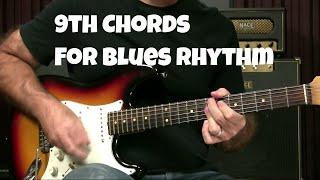 Blues Guitar Lesson - 9th Chords For Blues Rhythm Playing
