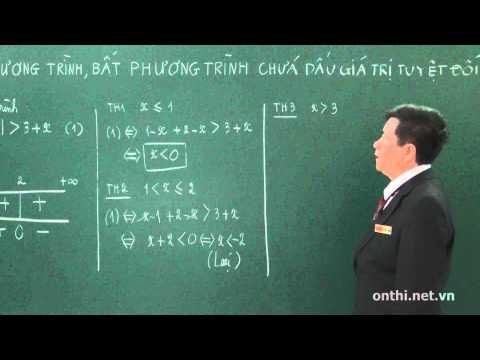 Chương 2-Bài 10-Phương trình, bất phương trình chứa giá trị tuyệt đối