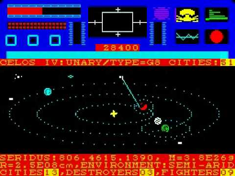 Star Raiders II (ZX Spectrum) Walkthrough