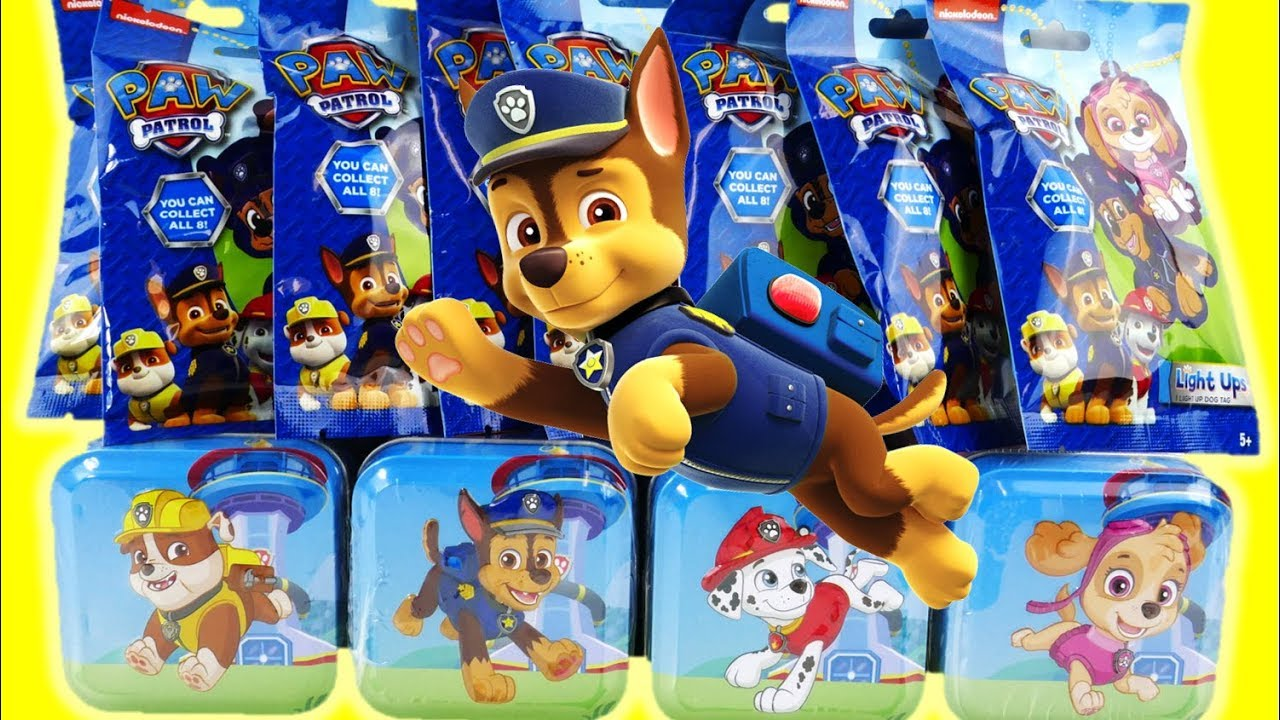 New Paw Patrol Surprise Tins and Light Up Blind Bag Surprises