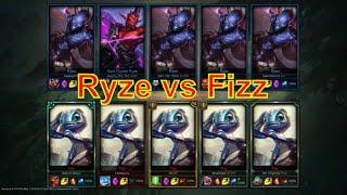 5 Fizz vs 5 Ryze - Chế độ 1 cho tất cả LOL