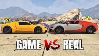 GTA 5 ONLINE   GTA 5 CARS VS REAL LIFE CARS PART #02 (WHICH IS FASTEST?)