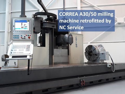 Correa A30/50 milling machine retrofitted by Nicolás Correa Service