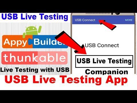 USB Live Testing Companion   USB Connection   Thunkable