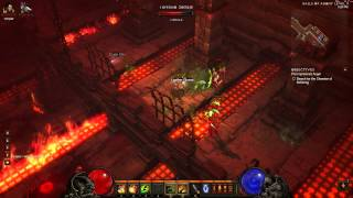 Diablo III Witch Doctor SP Walkthrough, Part 29: BOSS FIGHT with The Butcher! (in 1080p HD)