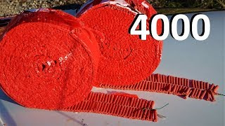 EXPERIMENT 4000 FIRECRACKERS EXPLOSIONS