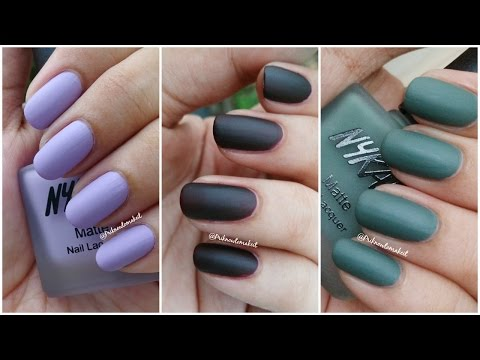 Nykaa – Matte nail lacquer | Swatches and review | matte collection