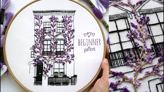 South Kensington Hand Embroidery Pattern. Embroidery For Beginners