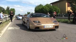 preview picture of video 'Lamborghini 50th anniversary 2013 - Grande Giro - Day 4 - Sant'Agata Bolognese N°2/2'