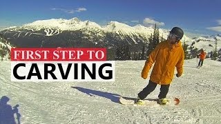 #27 Snowboard intermediate – First step to carving on a snowboard
