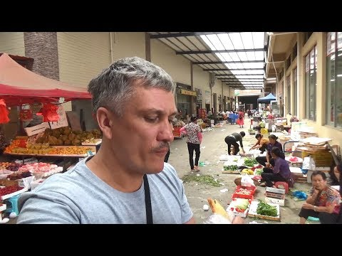 Уличная еда. Завтрак на рынке обед с рынка - Жизнь в Китае 158