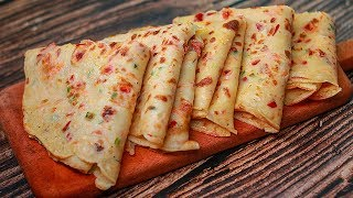 Spicy Vegetable Crepe For Breakfast | 5 Mins Easy Breakfast Recipe | Easy Snacks Recipe | Toasted