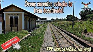 Drone encontra Estação de trem desativada! FPV exploratório!