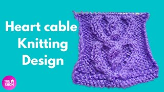 Heart cable knitting pattern | cable knitting patterns | in Hindi | with subtitles || TheHomeShom