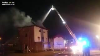 Požar razdelilne transformatorske postaje v Ljutomeru