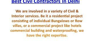 Best Electrical Contractors in Delhi