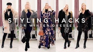 Long Sleeve Dresses | How To Style Winter Dresses | Winter Dress Hacks