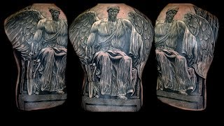 Religious Angel Tattoo Full Back Piece