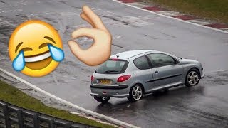 Nürburgring Cars Spinning Out of Control! Funny Compilation WATCH WITH SOUND - Nordschleife