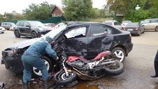 #9 18+ Аварии мотоциклистов сентябрь 2016, ХРУСТы поехали! Подборка жестоких ДТП HD HD