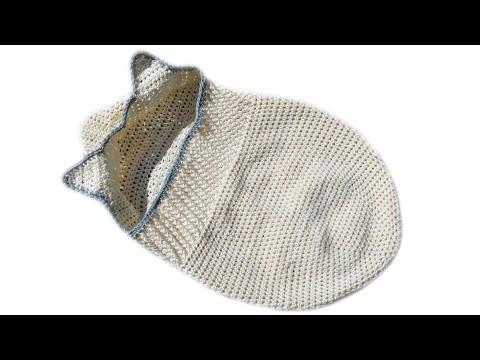 Baby Pucksack mit Öhrchen Häkelanleitung - Woolpedia®