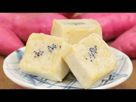 Sweet Potato Kintsuba Recipe (Japanese Traditional Dessert / Wagashi) | Cooking with Dog