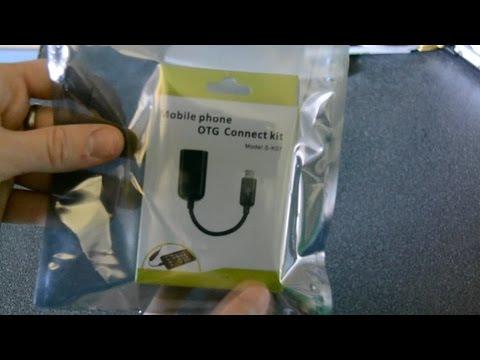 unboxing - adattatore USB femmina a mini attacco usb - cavo OTG
