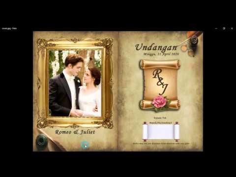 Video Tutorial Photoshop CS3 - Membuat Desain Undangan Pernikahan bagi Pemula