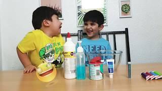 Получится ли у Малека СДЕЛАТЬ СЛАЙМ СВОИМИ РУКАМИ / ЭКСПЕРИМЕНТ СЛАЙМА. How to Make a Slime