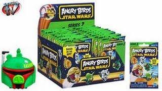 Распаковка 2 пакетиков  Angry Birds star wars