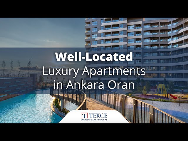 Lake View Apartments in a Luxury Complex in Ankara