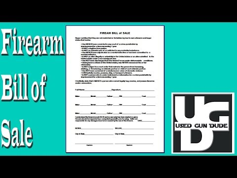 Patriotslist Firearm Bill Of Sale Form Fill Out And Sign