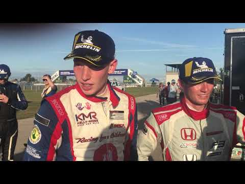 Michelin Encore Winners of the LMP3 Class Kyle Kirkwood and Roman De Angelis Post-Race Interview
