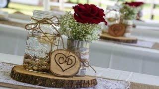 Mason Jar Burlap Wedding Centerpieces