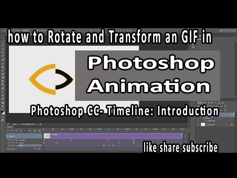 Animation In Photoshop Cc Tutorial  How To Rotate And Transform An Object In Photoshop Animation GIF