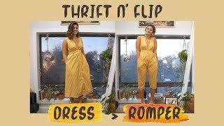 THRIFT N' FLIP | DIY Dress To Romper