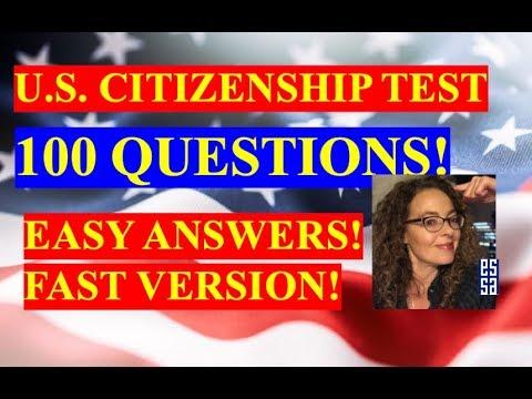 2020 Civics Questions for U.S. Citizenship - YouTube