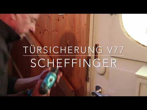 Türsicherung V77 von scheffinger - Die stabile Alternative zur Türkette aus massivem Edelstahl