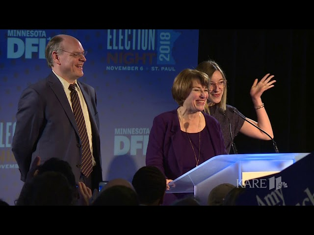 Amy Klobuchar Delivers Acceptance Speech For 3rd Term