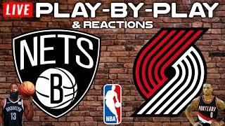 Brooklyn Nets vs Portland Trail Blazers   Live Play-By-Play & Reactions