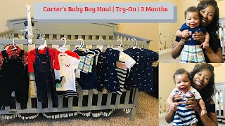 Carter's Baby Boy Haul | Try-On | 3 Months