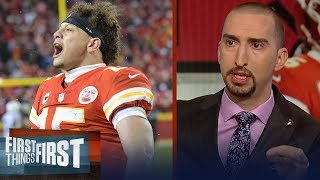 Nick Wright praises Patrick Mahomes despite AFC Championship loss | NFL | FIRST THINGS FIRST