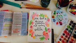 Watercolor Speed Painting Bible Art Hebrews 13:8 | Christian Inspiration