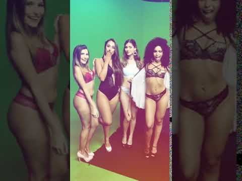 Byanca Guedes em mais uma trabalho de Modelo na Televisão aproveitou para fazer um Job mostrando toda sua Sensualidade da Beleza Negra em um Desfile de lingerie