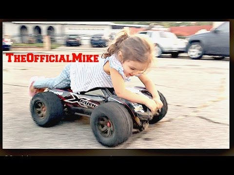 Little Girl Riding The X-Maxx 8s With :TheOfficialMike: